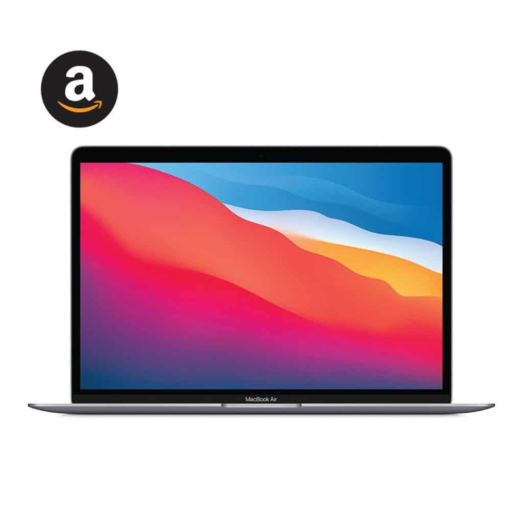 2020 Apple M1 Chip 256GB SSD Gray laptop for video conferencing