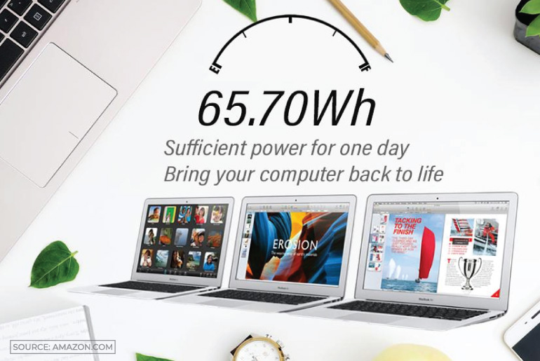 Replacement laptop battery for MacBook Pro