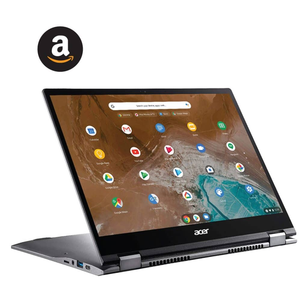 Acer - Steel Gray Chromebook Spin 713 2-in-1 laptops for zoom